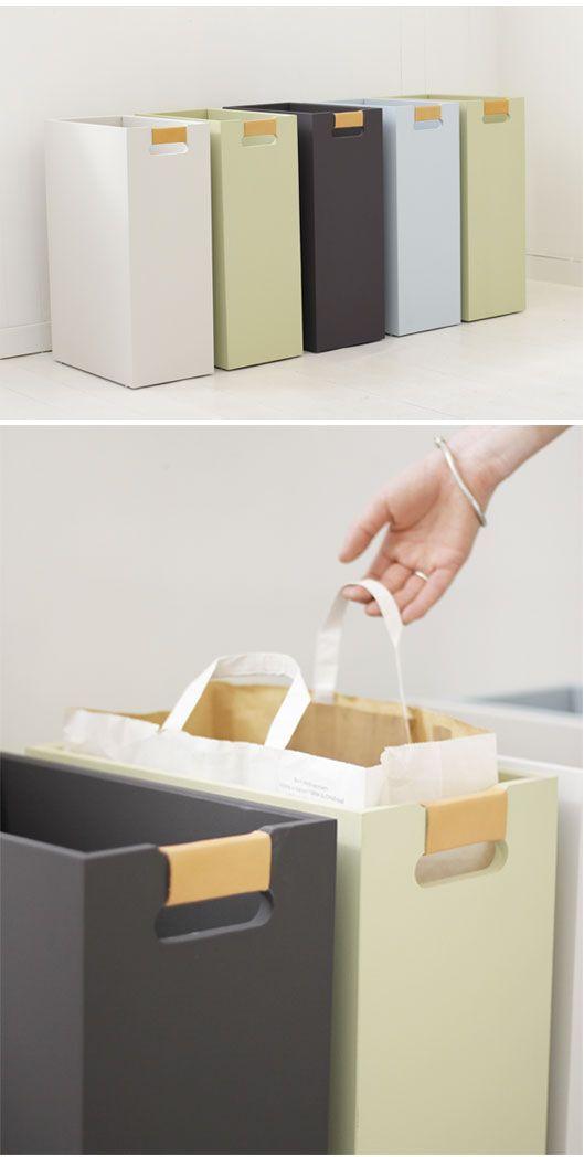 Lådor eller fack som passar för papperskassar är nog smart att fixa till!☺