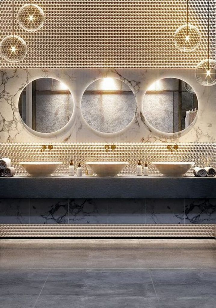 50 Amazing Restaurant Bathroom Ideas For Visitors To Feel Comfortable Bathroomremodel Bathroomd Restaurant Bathroom Restroom Design Bathroom Interior Design