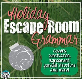 Looking for an engaging, rigorous holiday-themed grammar activity for your students? This grammar escape room is perfect for those last days before winter break - or any time during the winter season - when students are bouncing off the walls but still need to learn.