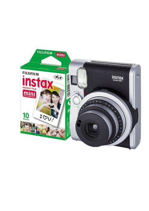 Fuji Instax Mini 90 Instant Camera with 10 Shots - Black