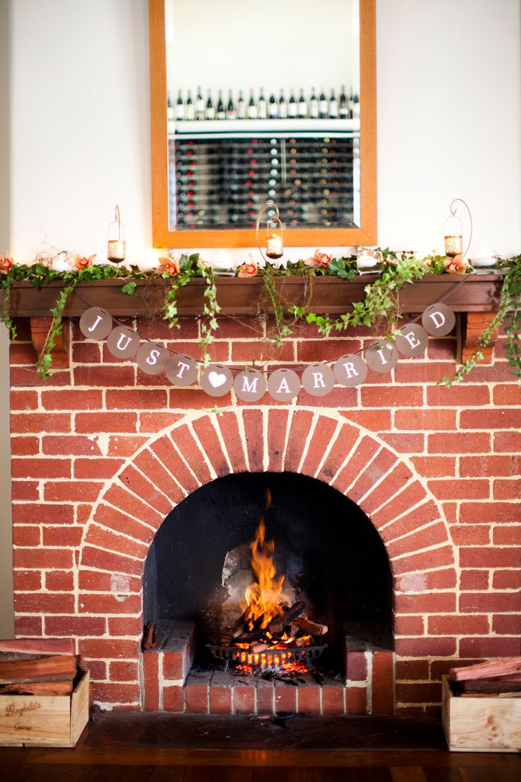 Fireplace in the Wine Room