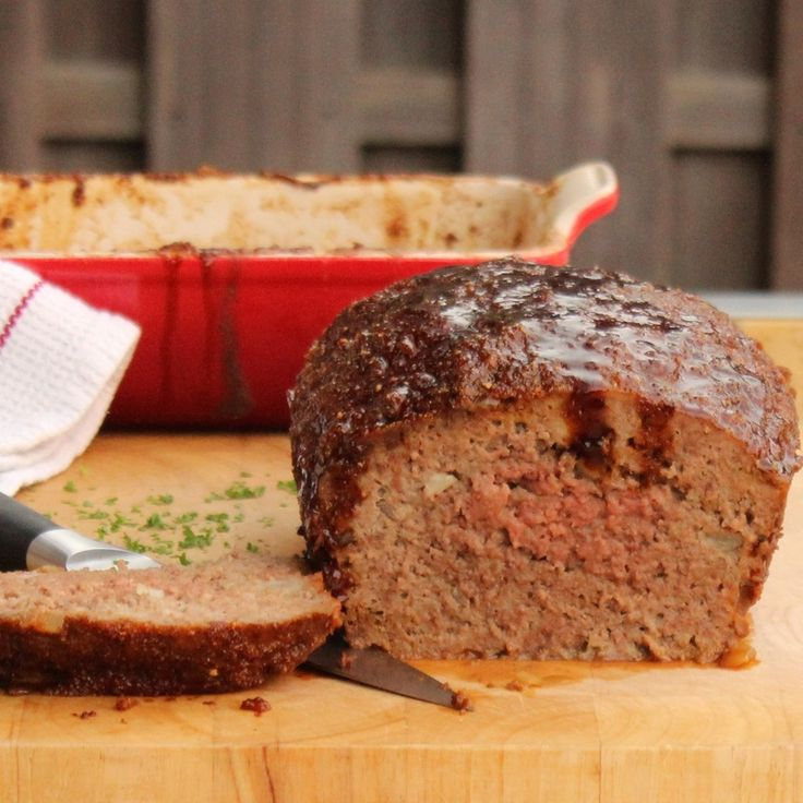 Quick and easy microwave meatloaf with soy sauce glaze