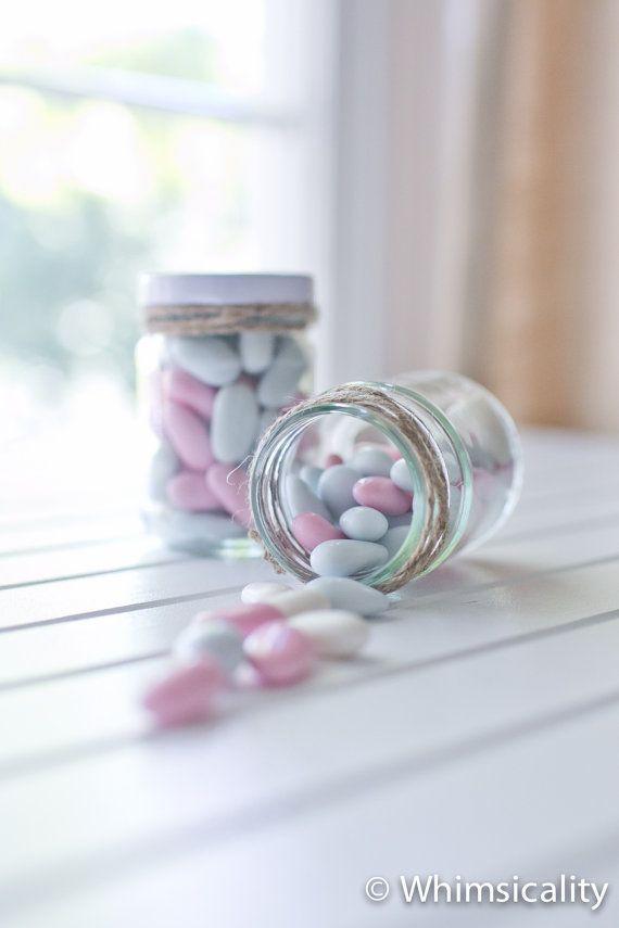 35 small round glass jars - White metal lids - DIY wedding favours / Bomboniere / Bonbonniere on Etsy, $50.00 AUD