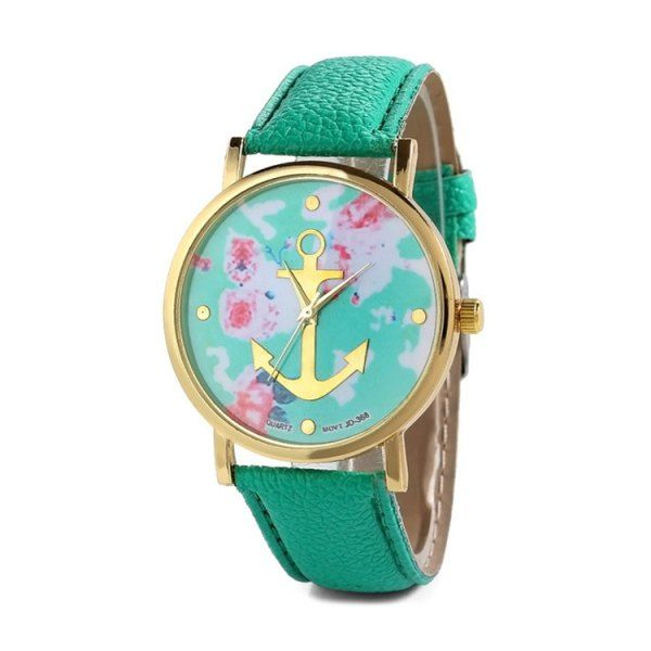 $5.54 Charming Anchor Design Printed Watch For Women