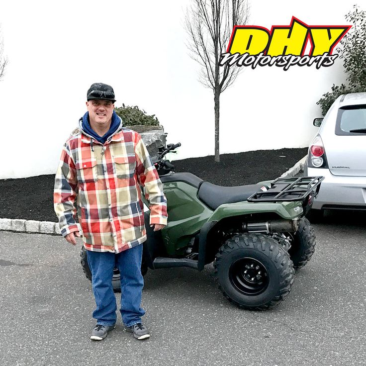 Congrats Scott, from #CherryHill on his purchase of this 2017 #Honda #TRX420Fm1H Have fun on the trails or the job site. Thank you for making your purchase at #DHYMotorsports #Clicktohelpmewinagiftcard #mynewride