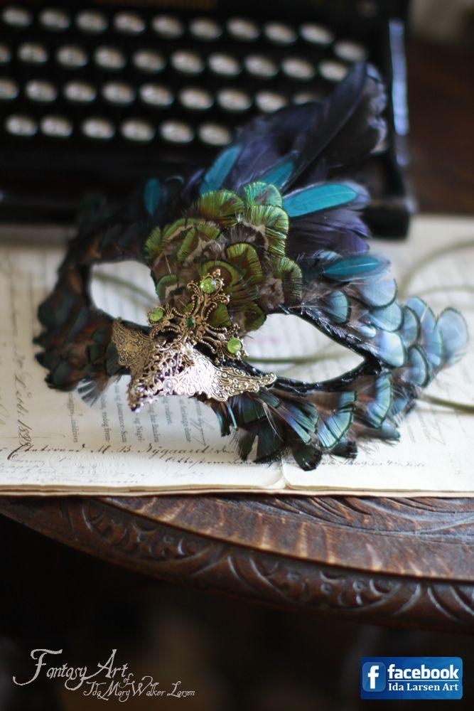 Steampunk Bird Mask Dark Version by IdaLarsenArt.deviantart.com on @deviantART