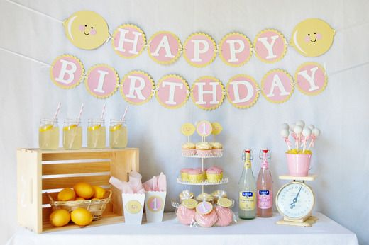 "Pink lemonade birthday--oh my! I think i just found our ""theme"" for a hot July 1st Birthday party!!"
