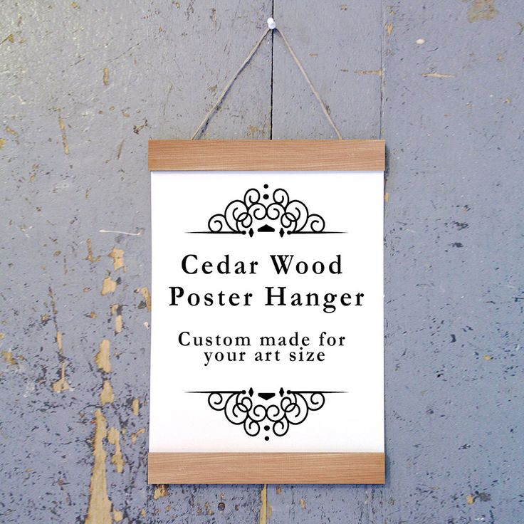 The natural Cedar wood art hanger is the perfect choice to display your beautiful art with a unique and modern style.   Each hanger is handmade with Cedar wood and comes with the jute to hang the frame, the top and bottom panels,super strong magnets to hold the art in place and simple instructions. This is a stylish and economical solution for hanging your art! Easy to hang and easy to move. Just use a single nail or push pin to hang, and take it down and roll it up to move.   The art slips…