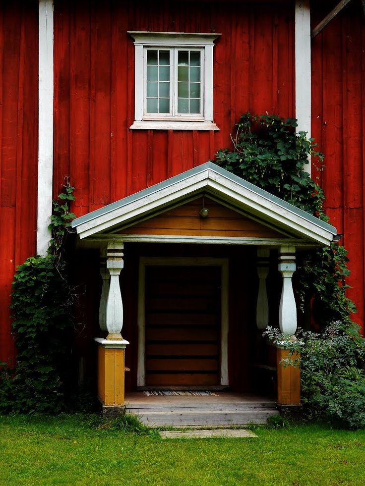 Porch local history museum Kauhajoki. South Ostrobothnia province of Western Finland. - Etelä-Pohjanmaa. Finland