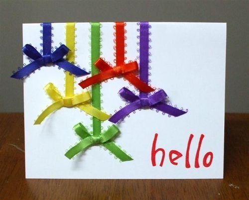 simple card: Art Card, Bright Bow, Cardmaking, Ribbon Card, Card Making, Card Ideas, Cards