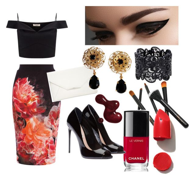 """""""Asia❤️"""" by megmegmarx on Polyvore featuring Coast, Lipsy, Style & Co., Dolce&Gabbana, NARS Cosmetics and Chanel"""