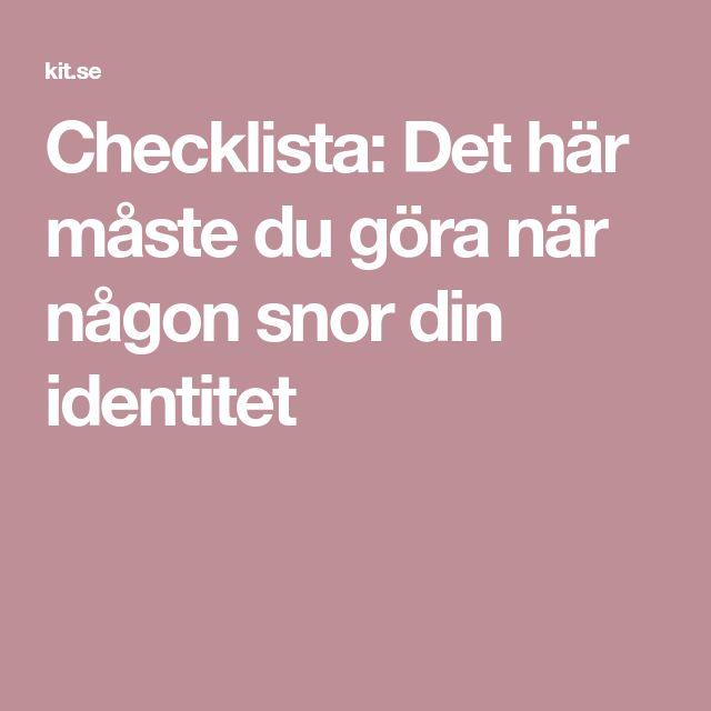 Checklista: Det här måste du göra när någon snor din identitet