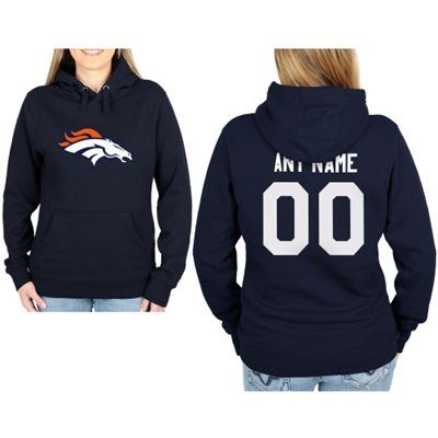 Denver Broncos Womens Custom Any Name & Number Hooded Sweatshirt - I think this might need to be my new sweatshirt lol