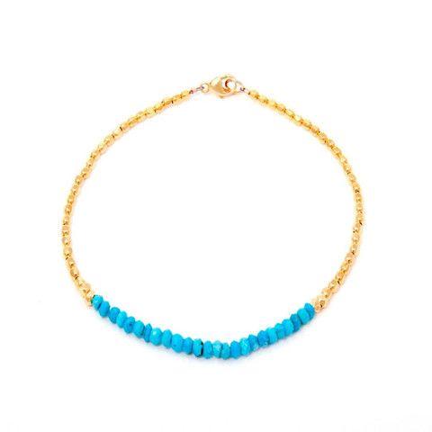 CATHERINE WEITZMAN Turquoise and Gold Bracelet – KAVUT