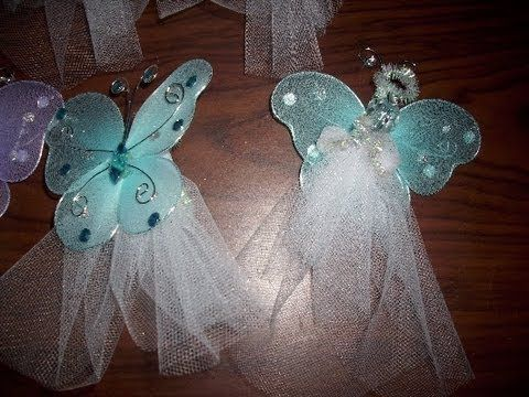 Craft Project: Butterfly Angel - YouTube
