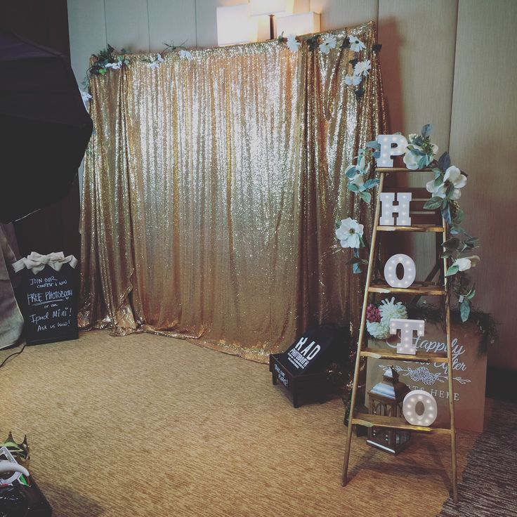 Need a gold sequin backdrop to rent for your next event (wedding, birthday, etc.)? We got you! Gold backdrop is great for head tables + photo booth!