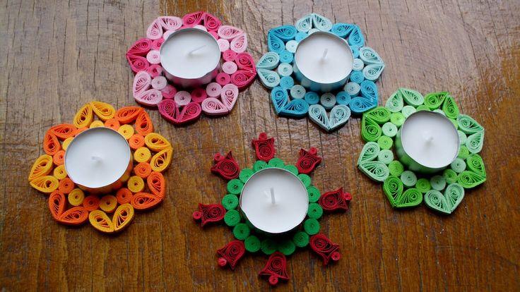 cadouri handmade - quilling art: suporturi lumanari