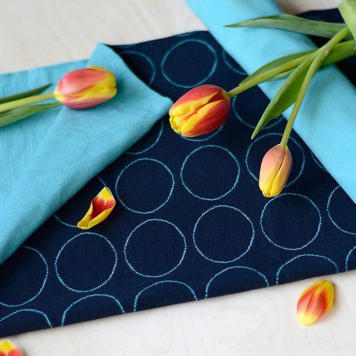 Quilted Jersey, Navy | NOSH Fabrics Spring & Summer 2016 Collection - Shop at en.nosh.fi | Kevään 2016 malliston kankaat saatavilla nyt nosh.fi