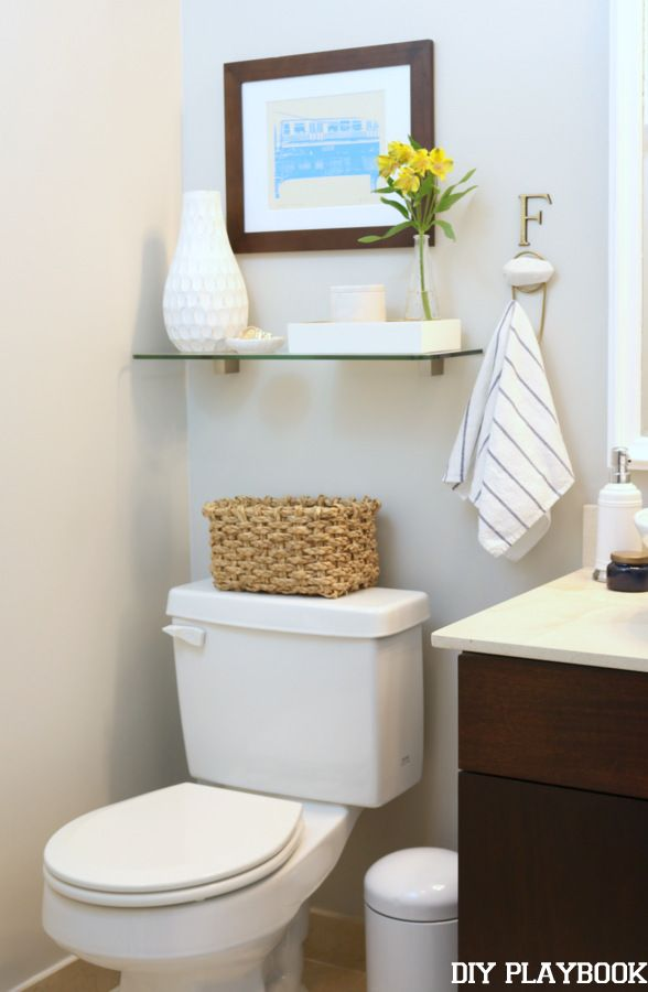 With a few changes our powder room has a whole new look. Here's our guest bathroom makeover.