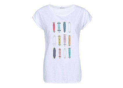 Bílé dámské tričko ZOOT Originál Barevné longboardy