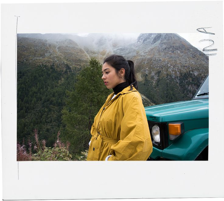 Finally some new clothes! Featuring a yellow Zara trench I wore high up in the Alps, in Arolla, Switzerland.
