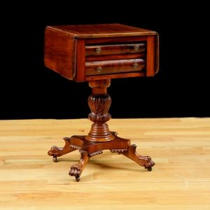 American federal side table in mahogany c 1820 antique for American federal bedroom furniture