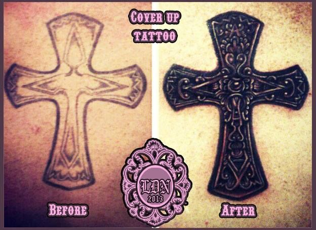 cover up tattoo by Lyndall DN