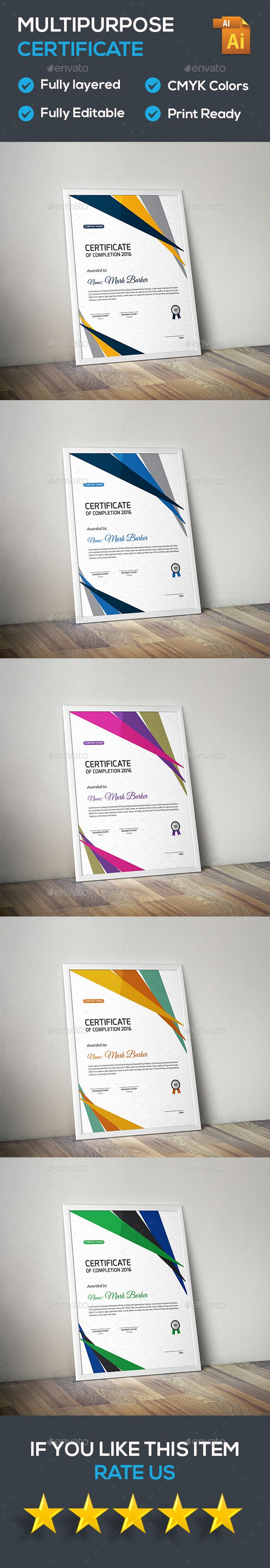 34 best certificate templates psd images on pinterest print certificate yadclub Gallery