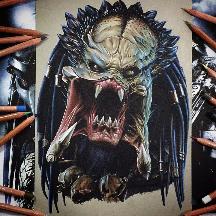 Predator drawing by Benjamin Davis