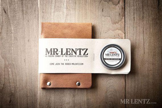 Mannen portemonnee Mens Leather Wallet minimale lederen door MrLentz