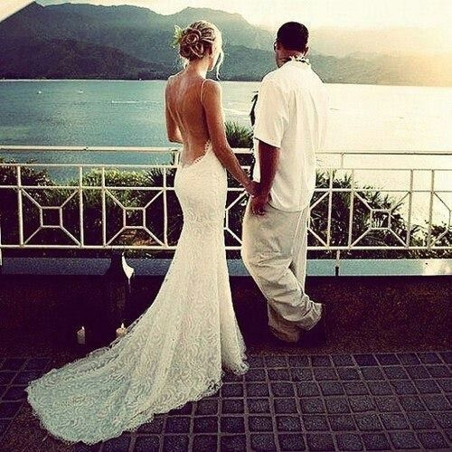 Low back wedding dress wedding inspiration pinterest for Beach wedding dress low back