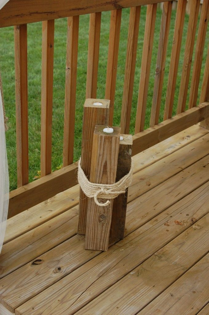 DIY outdoor candle holder...but drill holes for pillar candles instead of tea lights!