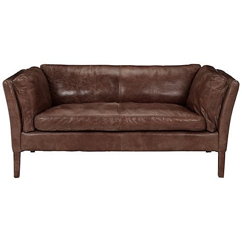 Halo Groucho Small Leather Sofa Online At Johnlewis