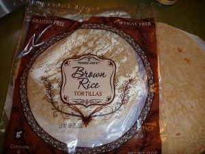 Here are two Brown Rice Tortilla brands that I buy. The first one is sold at Wholefoods Market and the second is sold at Trader Joe's. Recipes for the baked chips are below. Baking the tortillas Ingredients Brown Rice Tortillas (see images, above) olive oil, enough to coat each tortilla with a thin
