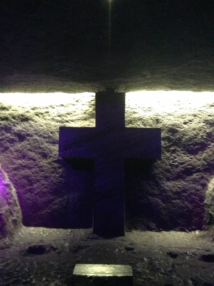 Christian Cross of Jesus located at the Catedral de Sal in Zipaquirá, Colombia. Also found at http://whoisjesus4real.com/catedral-de-sal-with-pictures-of-the-cross-of-jesus/