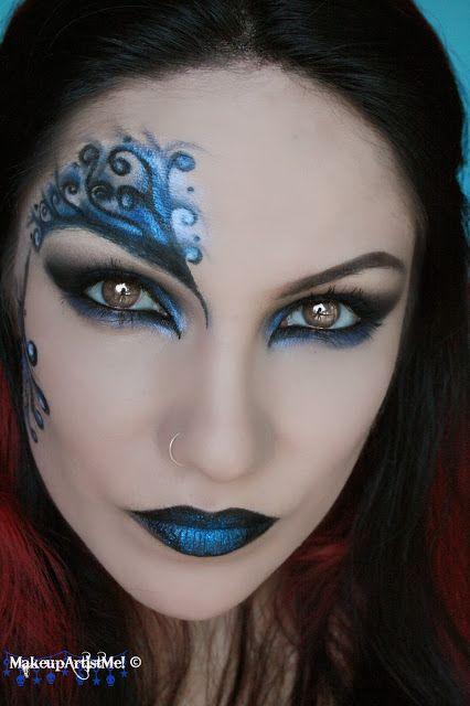 Make-up Artist Me!: Blue Secret- blue masquerade makeup tutorial — costume hall…