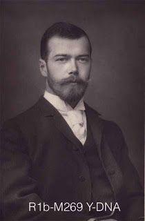 Toscana longobarda: DNA di persone famose: zar Nicola II Romanov