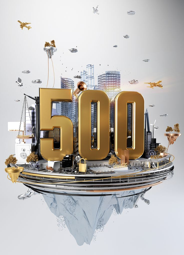 Global 500 // Fortune Magazine // CGI Illustration on Behance