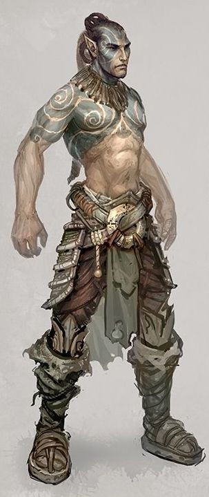 Islander.  ELVEON hero- basic armour (cropped for detail) by michalivan
