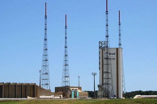 GUYANE La base spatiale est accessible aux visiteurs pour des visites guidées. Ici, le pas de tir de la fusée Ariane 5