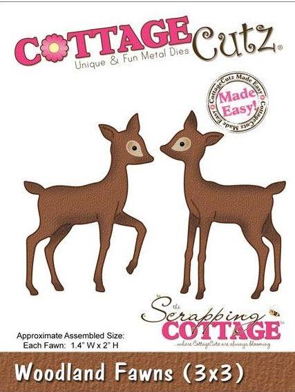 CC3X3-093  Cottage Cutz Die Woodland Fawns