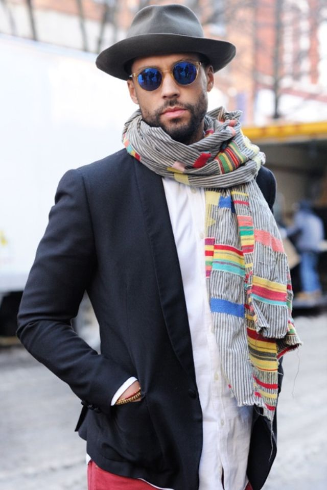 554 best Mens Scarves images on Pinterest | Fashion men ...
