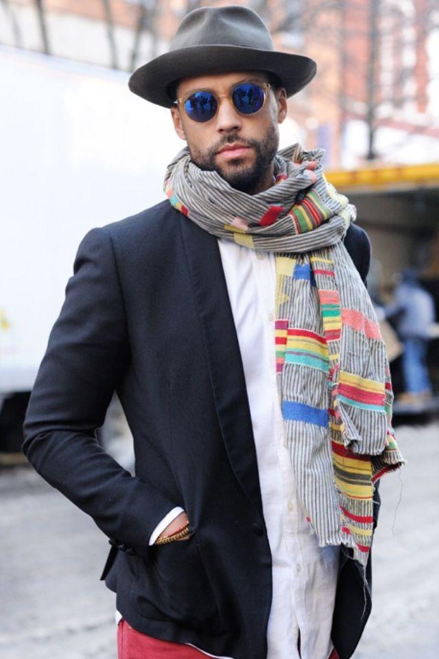 554 best Mens Scarves images on Pinterest | Fashion men ...