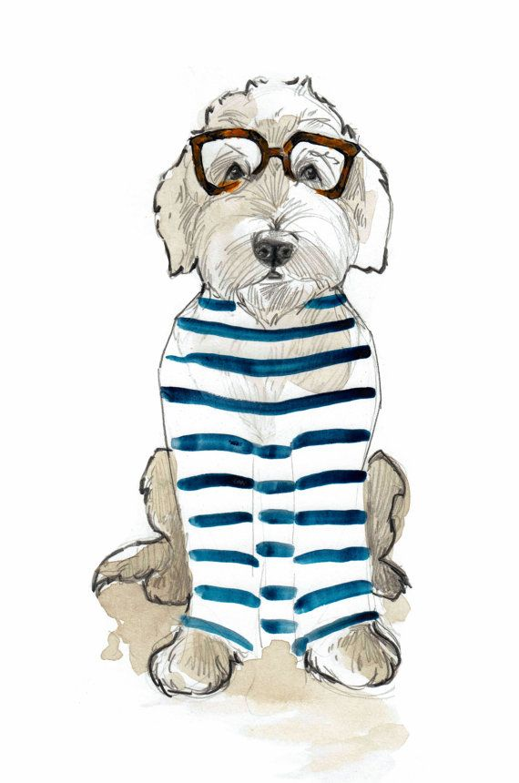 Preppy Doodle by annatyrrell on Etsy