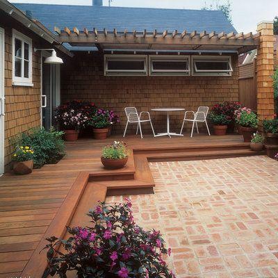 Wrap-around backyard deck