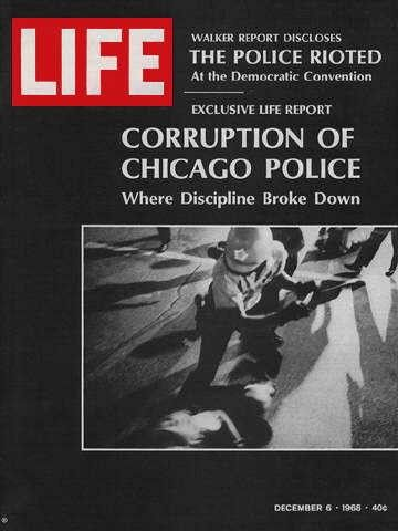 """Police violence at the Chicago convention -  December 6, 1968 issue - Visit http://www.oldlifemagazines.com/the-1960s/1968/december-06-1968-life-magazine.html?q= purchase this issue of Life Magazine. Enter """"pinterest"""" for a 12% discount at checkout - Police violence at the Chicago convention"""
