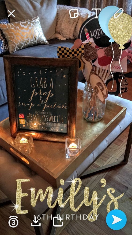 S'mores Bar, Stars, Twinkle Lights, Paper Lanterns, Starry Sips Sweet 16 Party Ideas | Photo 9 of 39