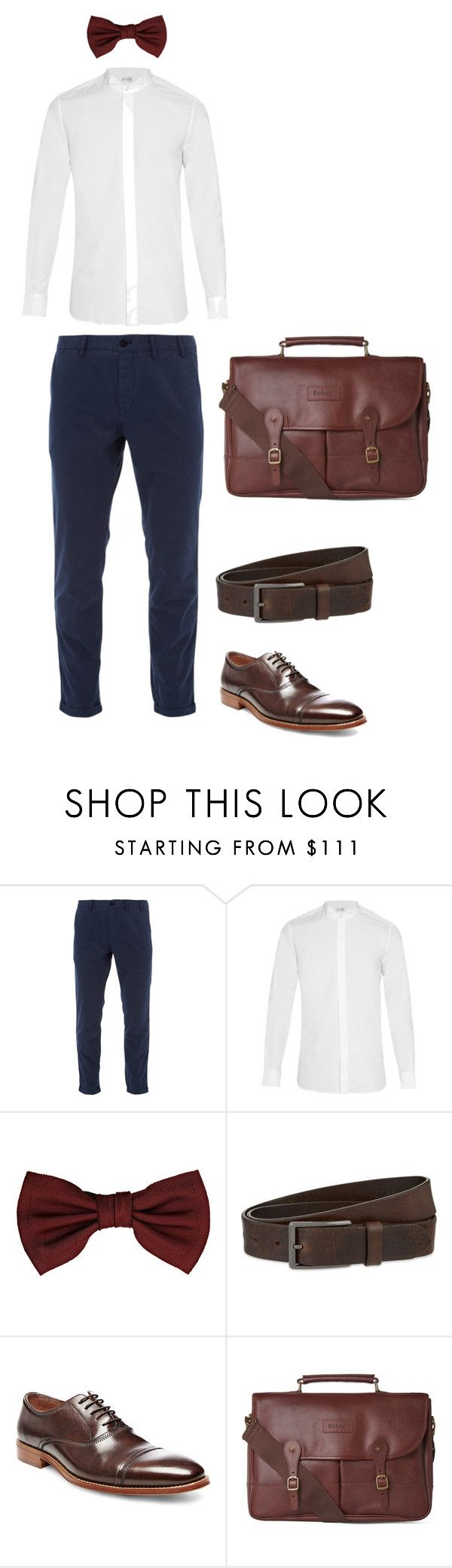"""Look 1 - WILSONS"" by kirravanblanken on Polyvore featuring Norse Projects, Yves Saint Laurent, Lanvin, HUGO, Steve Madden, Barbour, men's fashion and menswear"