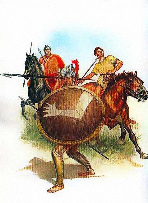 """I Paleoveneti, V-IV Sec. a.C.""  • Cavalleria pesante • Fanteria pesante • Cavalleria leggera"