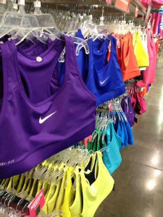 A rainbow of Nike Pro Bras :) #nikepros #cheerleading